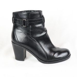 Franco Sarto Black Nino Ankle Boots Booties